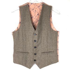 VTG Paco Rabanne Men's Herringbone 5-Button Vest